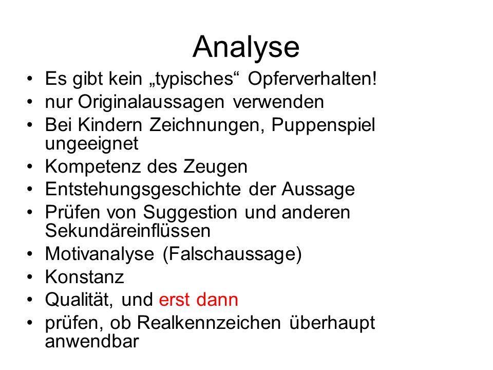 Analyse Es gibt kein typisches Opferverhalten.