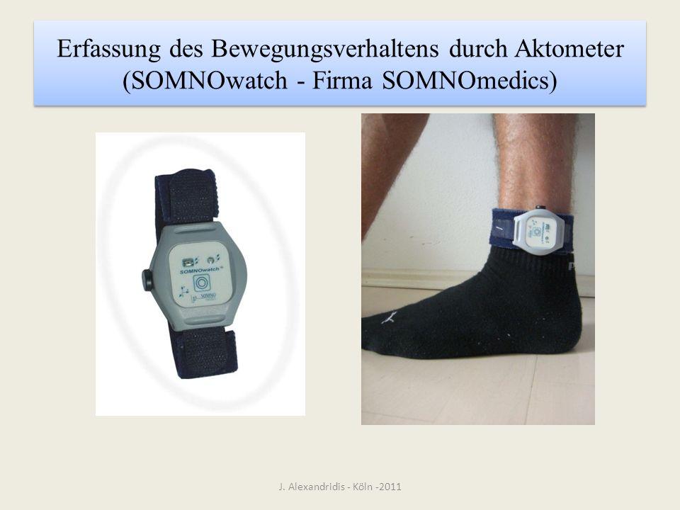Erfassung des Bewegungsverhaltens durch Aktometer (SOMNOwatch - Firma SOMNOmedics) J. Alexandridis - Köln -2011