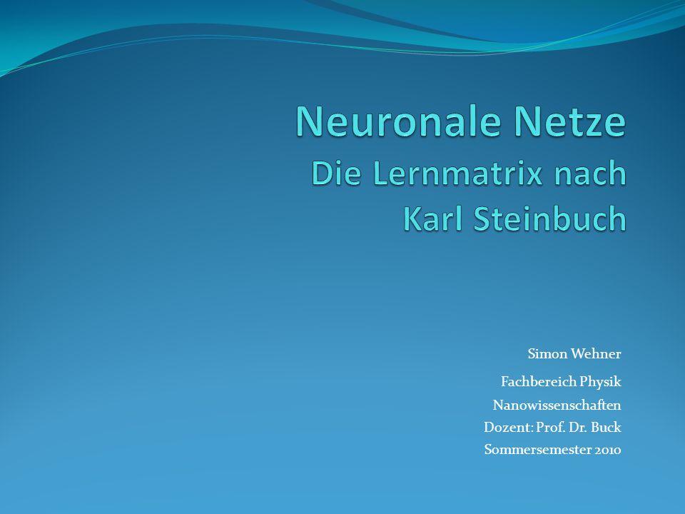 3. Die Lernmatrix 3.2 als Neuronenschicht Darstellung der Lernmatrix als Neuronenschicht 12