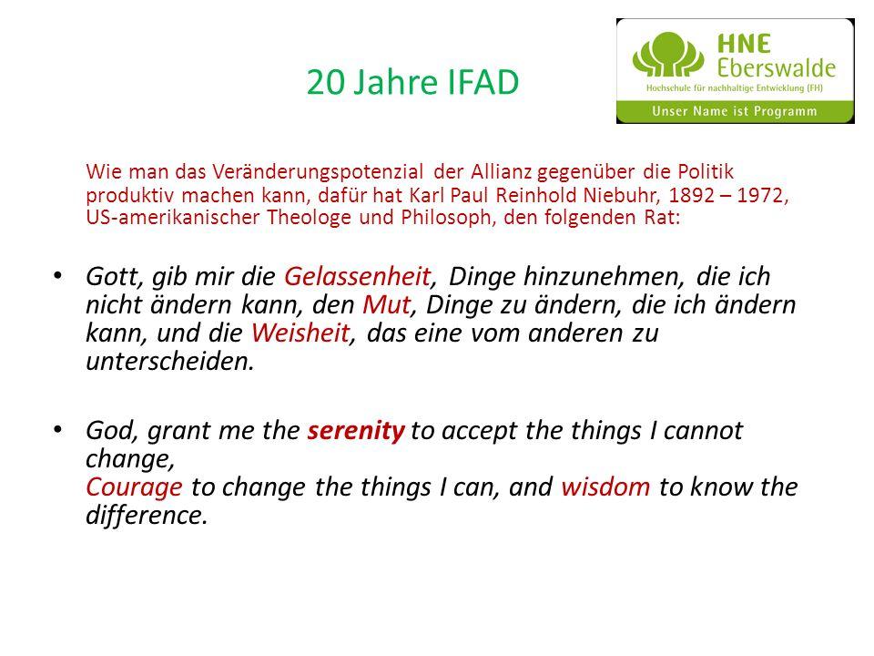 20 Jahre IFAD Wie man das Veränderungspotenzial der Allianz gegenüber die Politik produktiv machen kann, dafür hat Karl Paul Reinhold Niebuhr, 1892 –