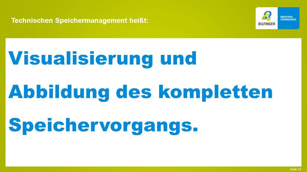 Technischen Speichermanagement heißt: Seite 16 Ermittlung der Schlüsselfaktoren für einen effizienten Betrieb.