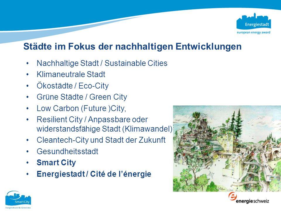 Städte im Fokus der nachhaltigen Entwicklungen Nachhaltige Stadt / Sustainable Cities Klimaneutrale Stadt Ökostädte / Eco-City Grüne Städte / Green Ci