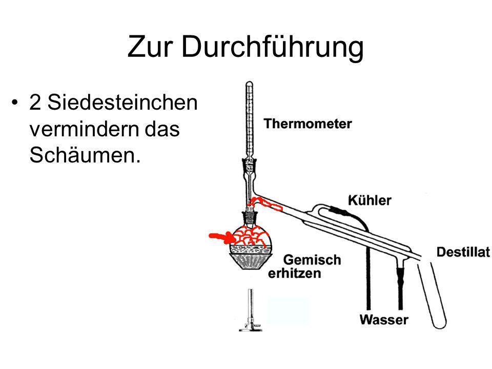 Zur Durchführung Der Kühler muss so stark mit Wasser durchflossen werden, dass er kühl bleibt (mehr nicht, keine Verschwendung!)