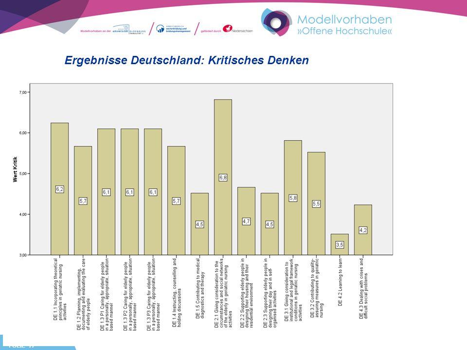 FOLIE 17 Ergebnisse Deutschland: Kritisches Denken