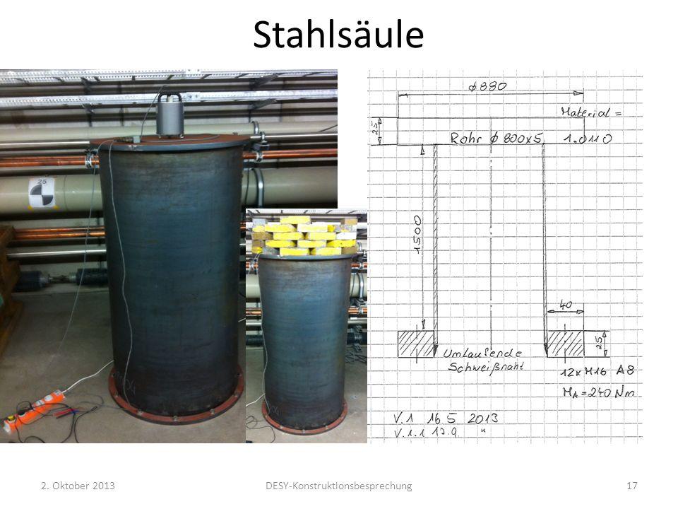 Stahlsäule 2. Oktober 2013DESY-Konstruktionsbesprechung17