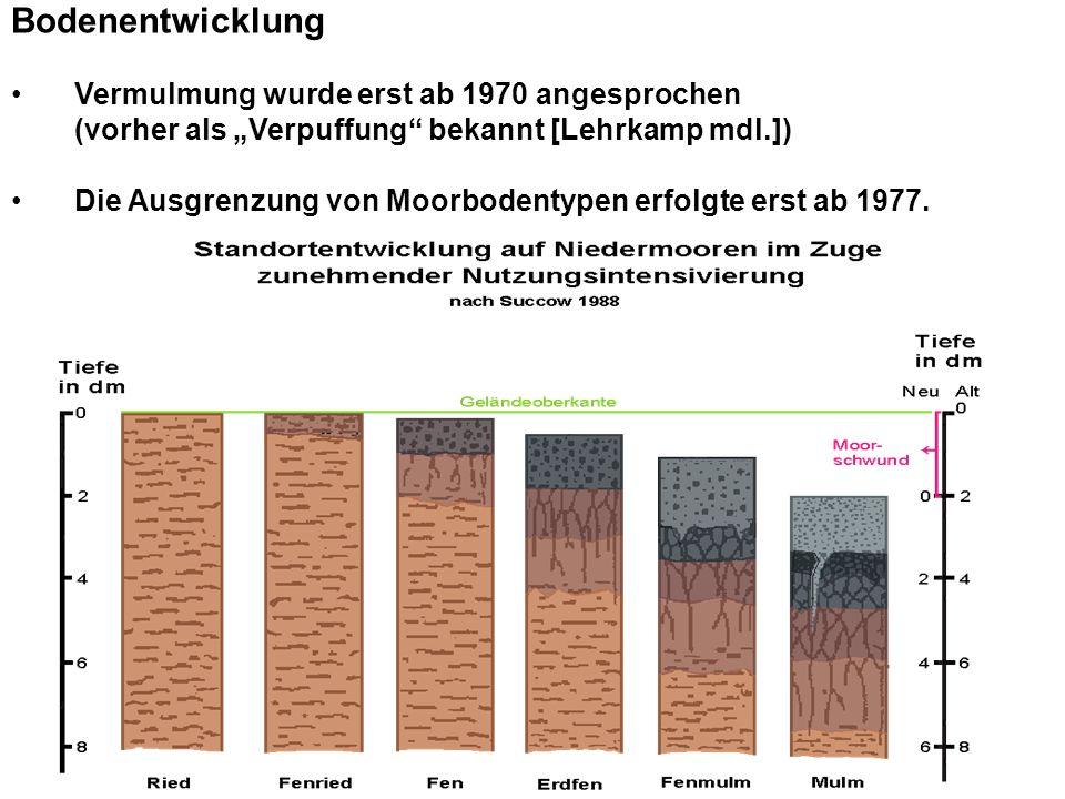 Informationen in Meliorationsunterlagen der DDR Schichtenverzeichnisse Standardschürfe (Bohrraster 50 bzw.