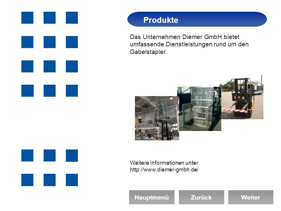 Das Unternehmen Diemer GmbH bietet umfassende Dienstleistungen rund um den Gabelstapler.