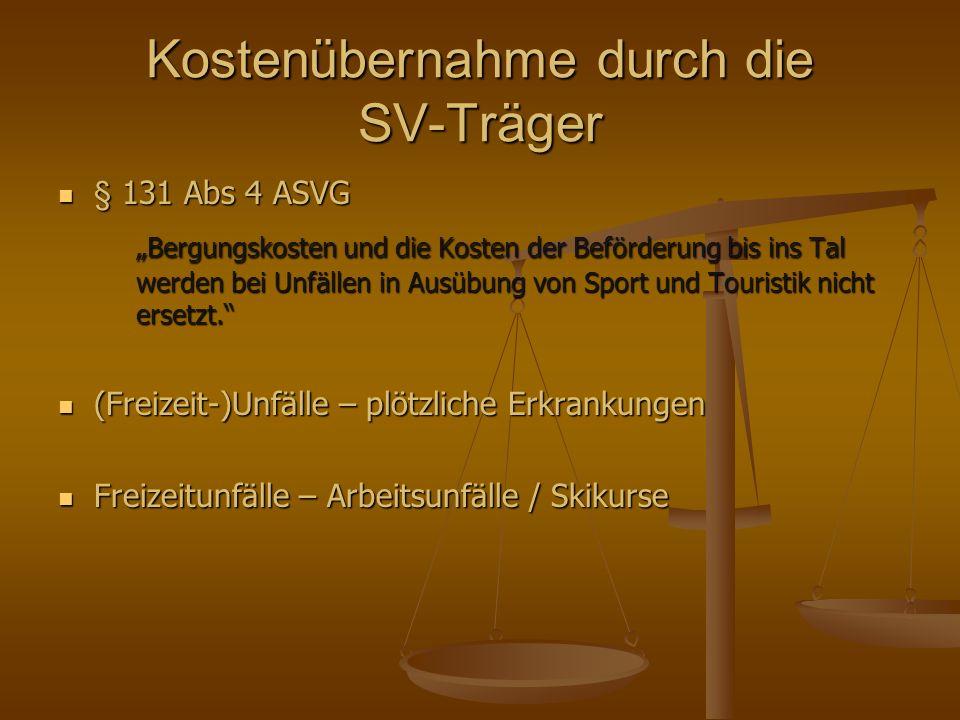 Kostenübernahme durch die SV-Träger Maßgeblicher Beurteilungszeitpunkt Maßgeblicher Beurteilungszeitpunkt Ex ante.