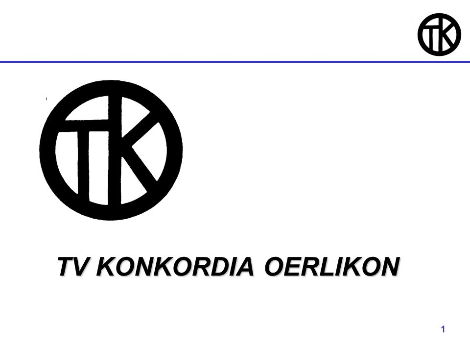 1 TV KONKORDIA OERLIKON