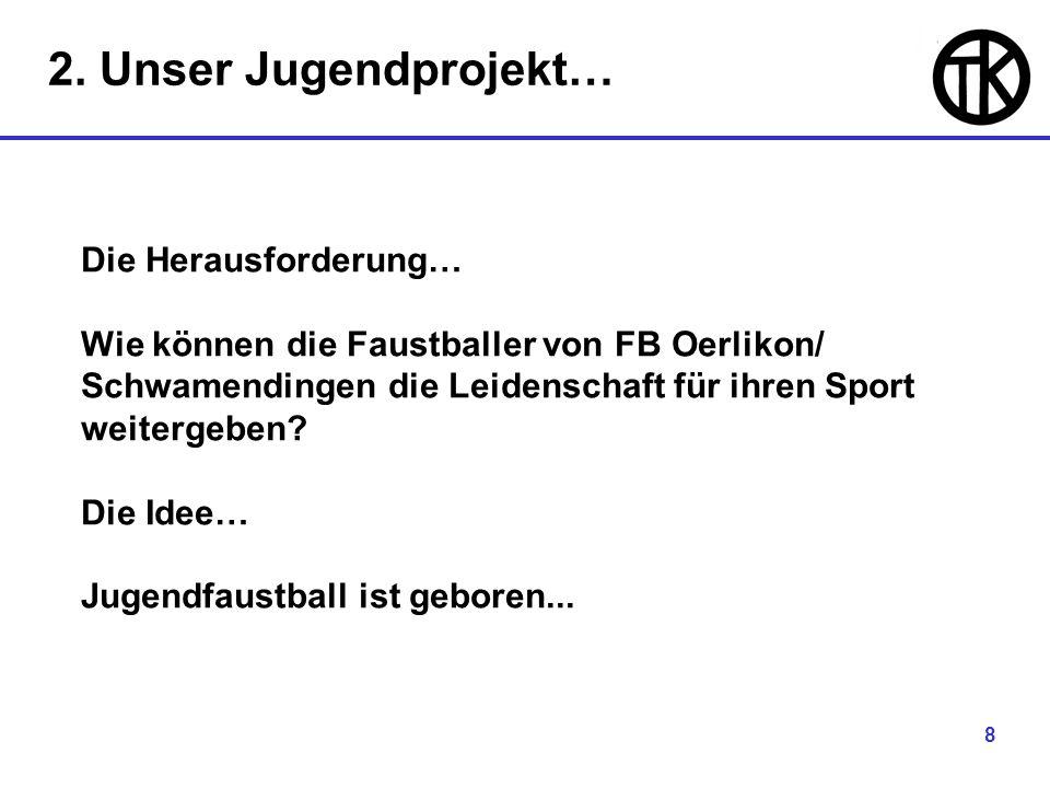 8 Die Herausforderung… Wie können die Faustballer von FB Oerlikon/ Schwamendingen die Leidenschaft für ihren Sport weitergeben.