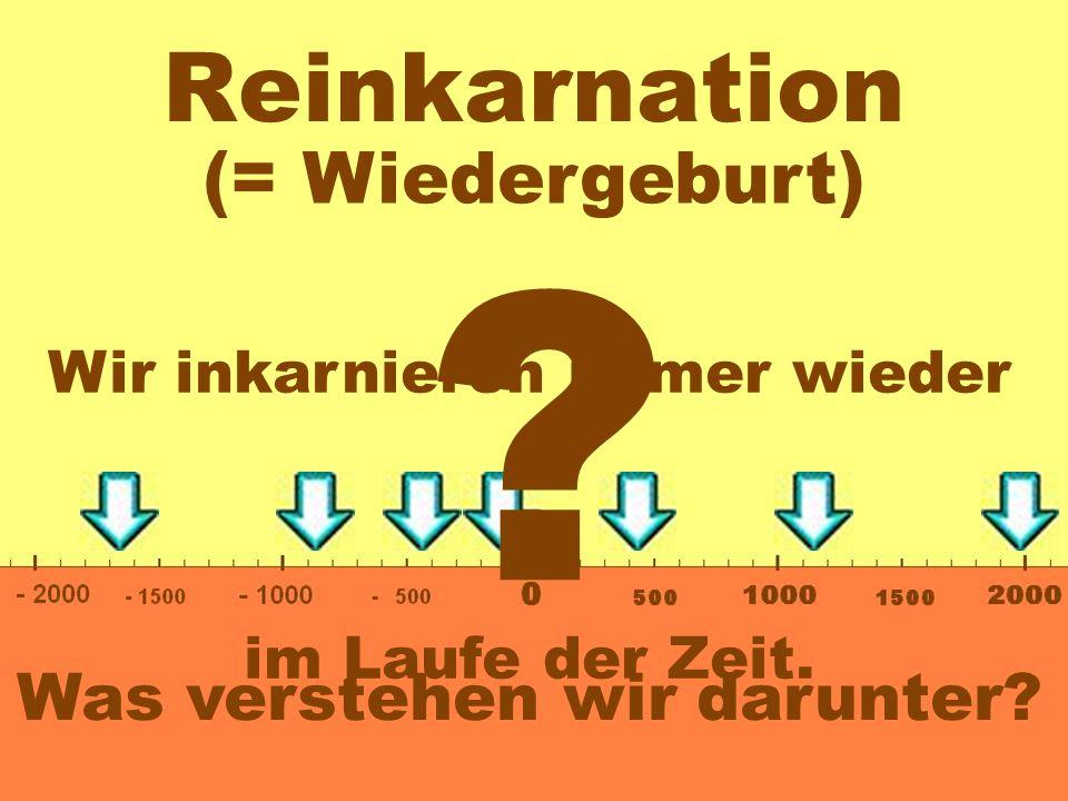Reinkarnation 0- 200.000- 400.000- 600.000- 800.000 100x bis 400x Wannwie oftwie,, Zeit inkarnieren wir.