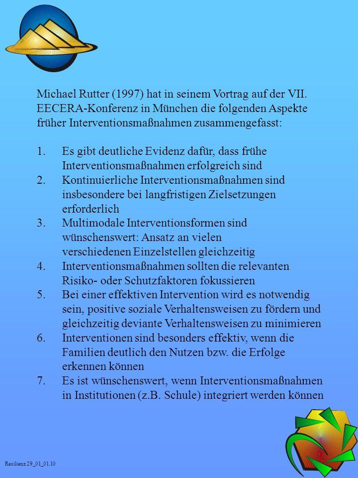 Michael Rutter (1997) hat in seinem Vortrag auf der VII.
