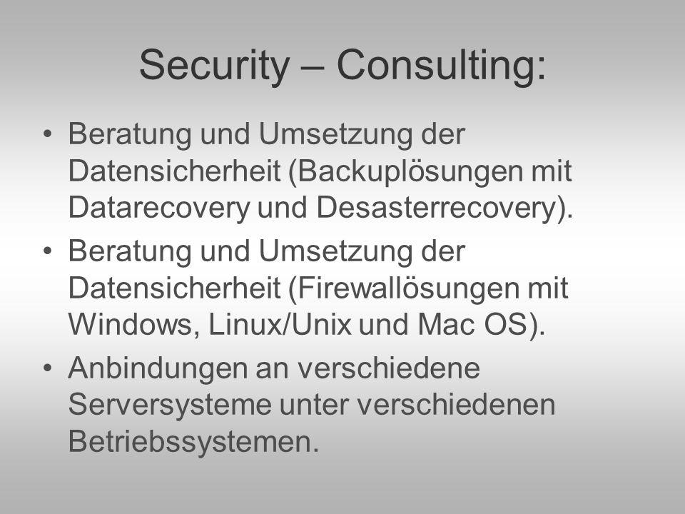 Inter- und Intranetanbindungen – Webdesign: Anbindungen ans Intra- und Internet unter den verschiedensten Sicherheitsanforderungen.