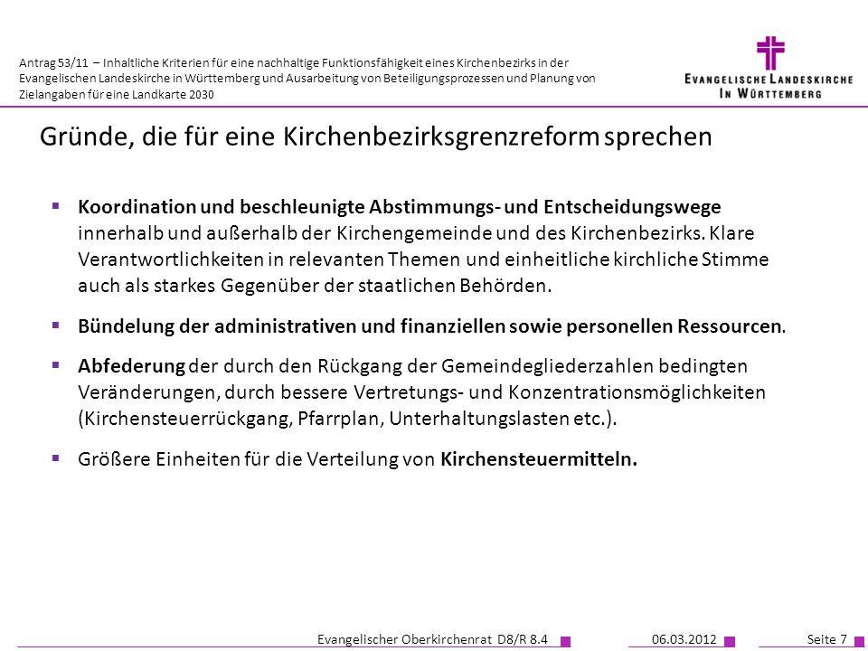 Antrag 53/11 – Inhaltliche Kriterien für eine nachhaltige Funktionsfähigkeit eines Kirchenbezirks in der Evangelischen Landeskirche in Württemberg und