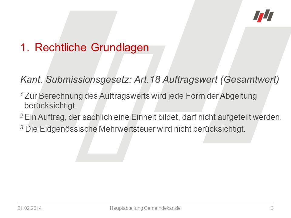 1. Rechtliche Grundlagen Kant.