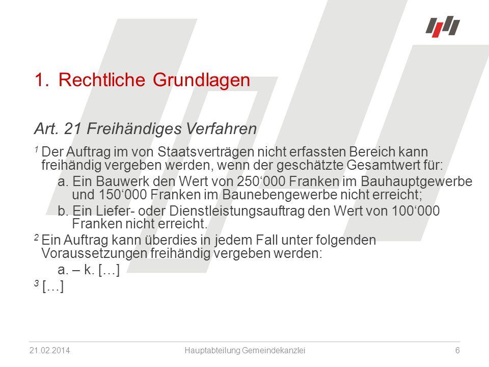1. Rechtliche Grundlagen Art.