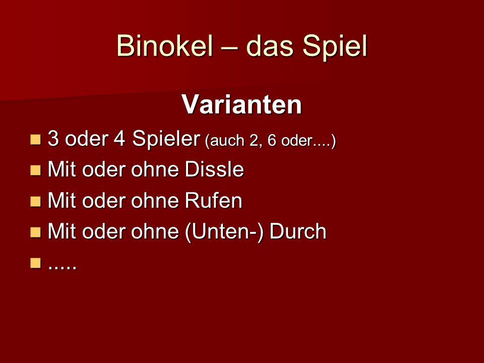 Binokel – die Karten