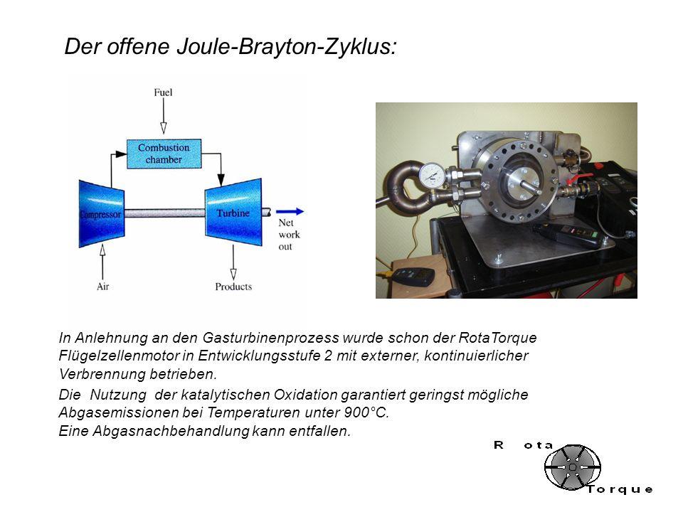 In Anlehnung an den Gasturbinenprozess wurde schon der RotaTorque Flügelzellenmotor in Entwicklungsstufe 2 mit externer, kontinuierlicher Verbrennung