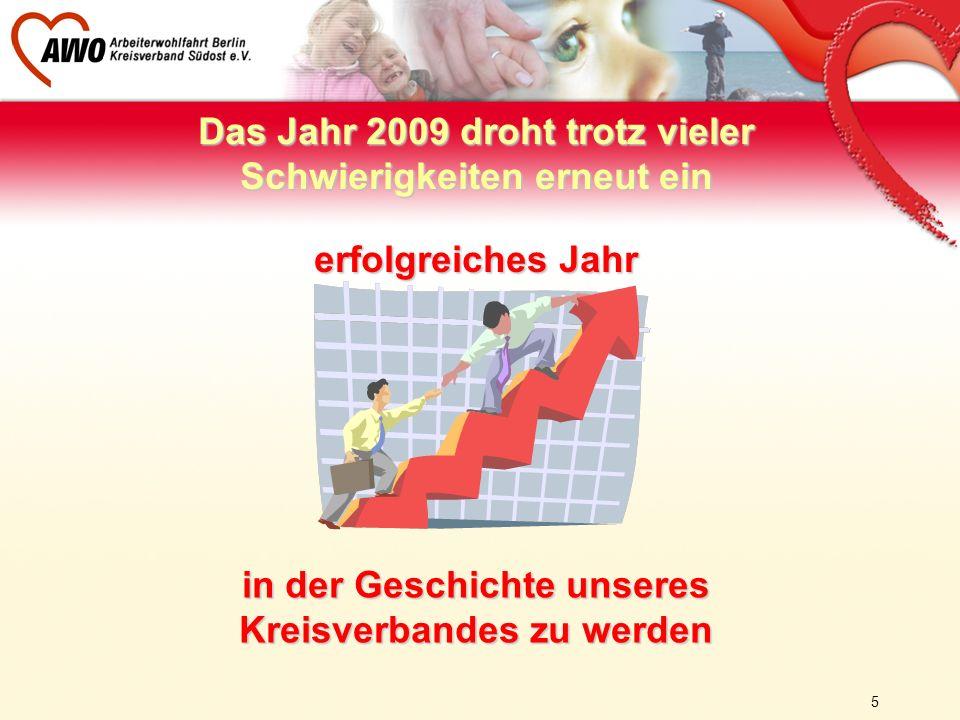 5 Das Jahr 2009 droht trotz vieler Schwierigkeiten erneut ein erfolgreiches Jahr in der Geschichte unseres Kreisverbandes zu werden