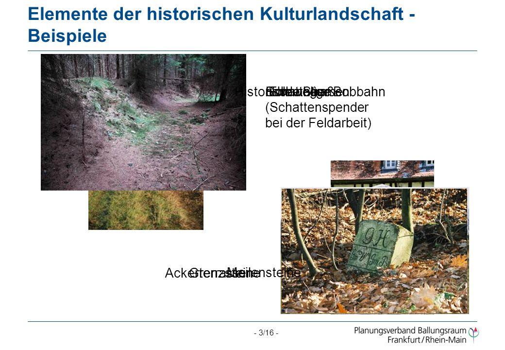 - 14/16 - Verwendung der Daten für die Öffentlichkeit Regionalpark Freizeit-Routen Geführte Wanderungen Geschichtsvereine und Heimat- interessierte ۩