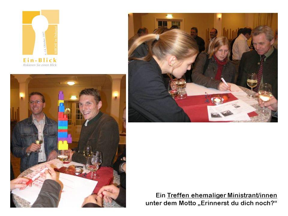 Ein Treffen ehemaliger Ministrant/innen unter dem Motto Erinnerst du dich noch?