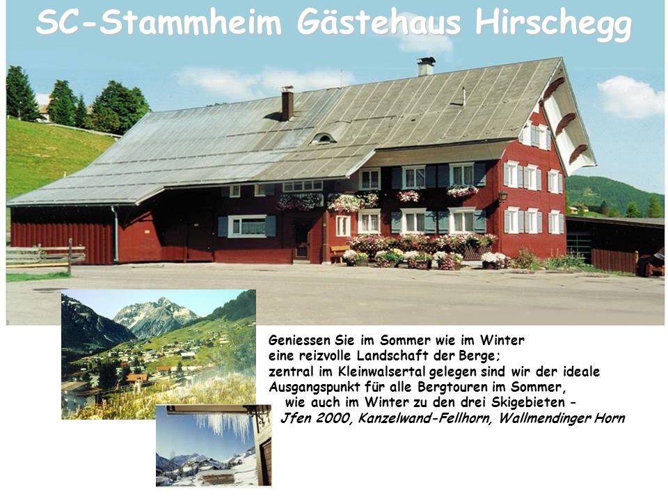 Gästehaus Hirschegg Herzlich willkommen