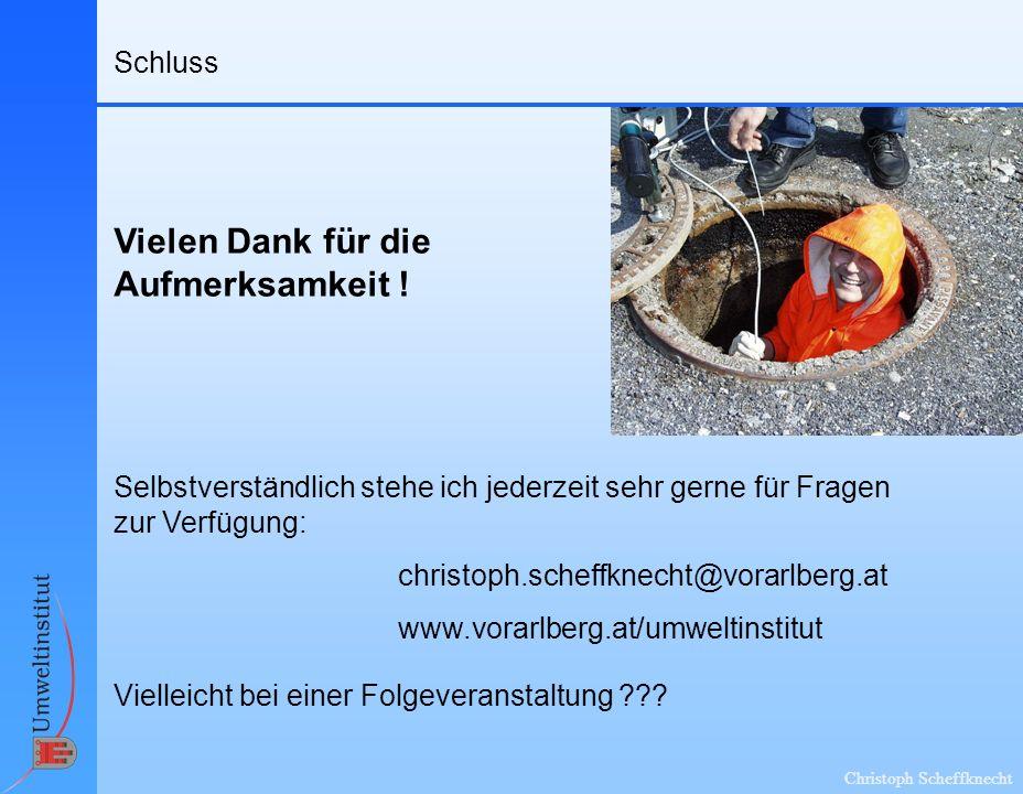 Christoph Scheffknecht Vielen Dank für die Aufmerksamkeit .