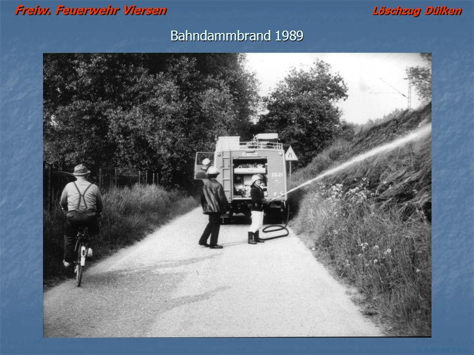 Freiw. Feuerwehr Viersen Löschzug Dülken Ch. Kutscheidt © 2002 Bahndammbrand 1989