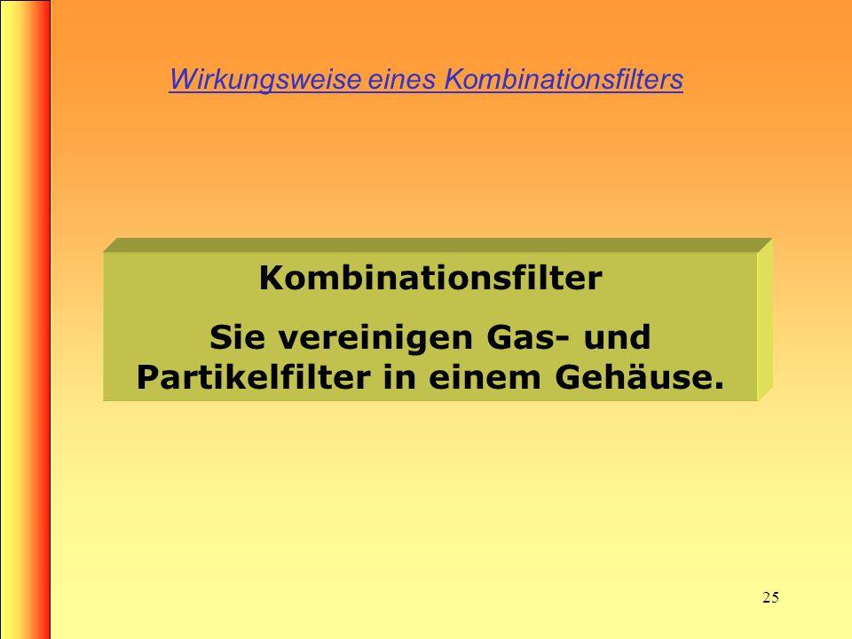 24 Einteilung von Filtergeräten nach EN 133 3. Filtergeräte gegen Partikel, Gase und Dämpfe Kombinationsfilter und Atemanschluß Filtrierender Atemansc