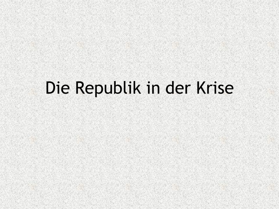 Die Republik in der Krise