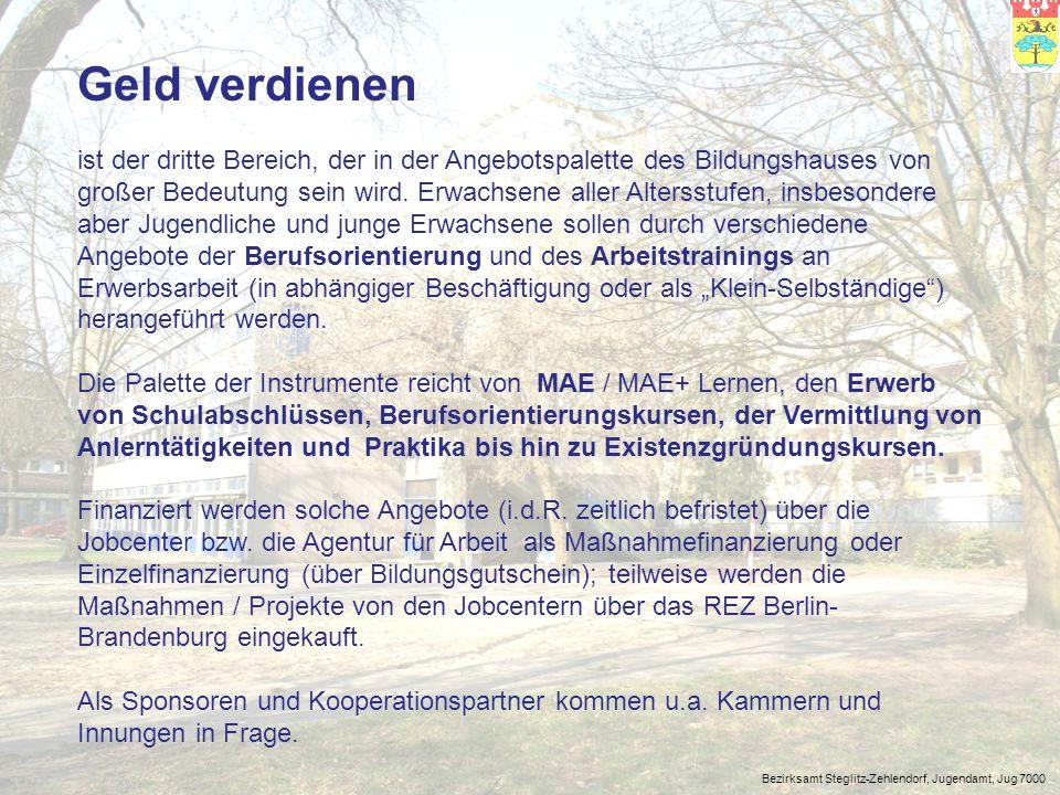 Bezirksamt Steglitz-Zehlendorf, Jugendamt, Jug 7000 Ausgangsituation lfd.