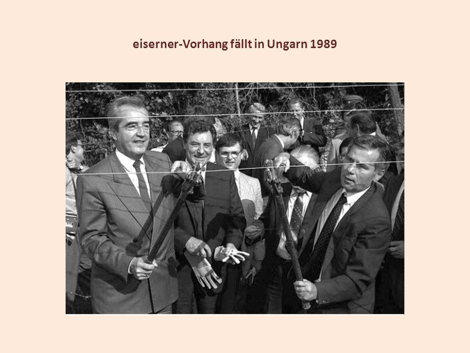 eiserner-Vorhang fällt in Ungarn 1989