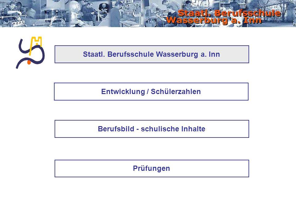 Entwicklung / Schülerzahlen Berufsbild - schulische Inhalte Prüfungen