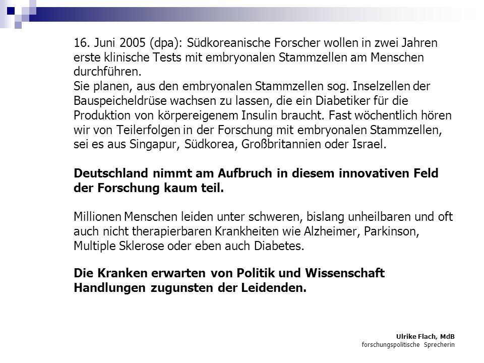 Ulrike Flach, MdB forschungspolitische Sprecherin 16.