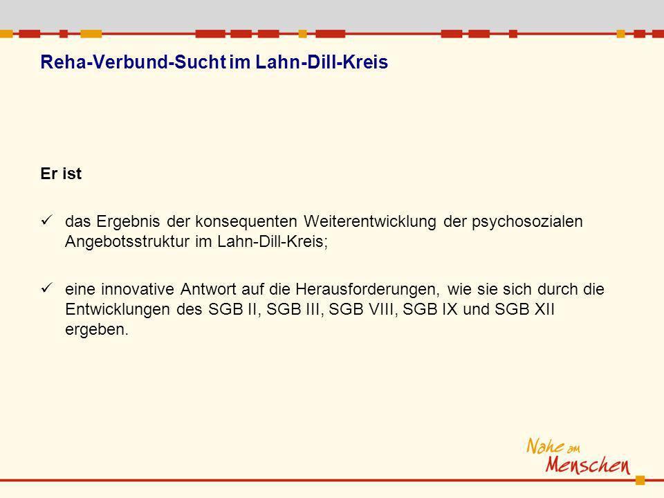 Er ist das Ergebnis der konsequenten Weiterentwicklung der psychosozialen Angebotsstruktur im Lahn-Dill-Kreis; eine innovative Antwort auf die Herausforderungen, wie sie sich durch die Entwicklungen des SGB II, SGB III, SGB VIII, SGB IX und SGB XII ergeben.
