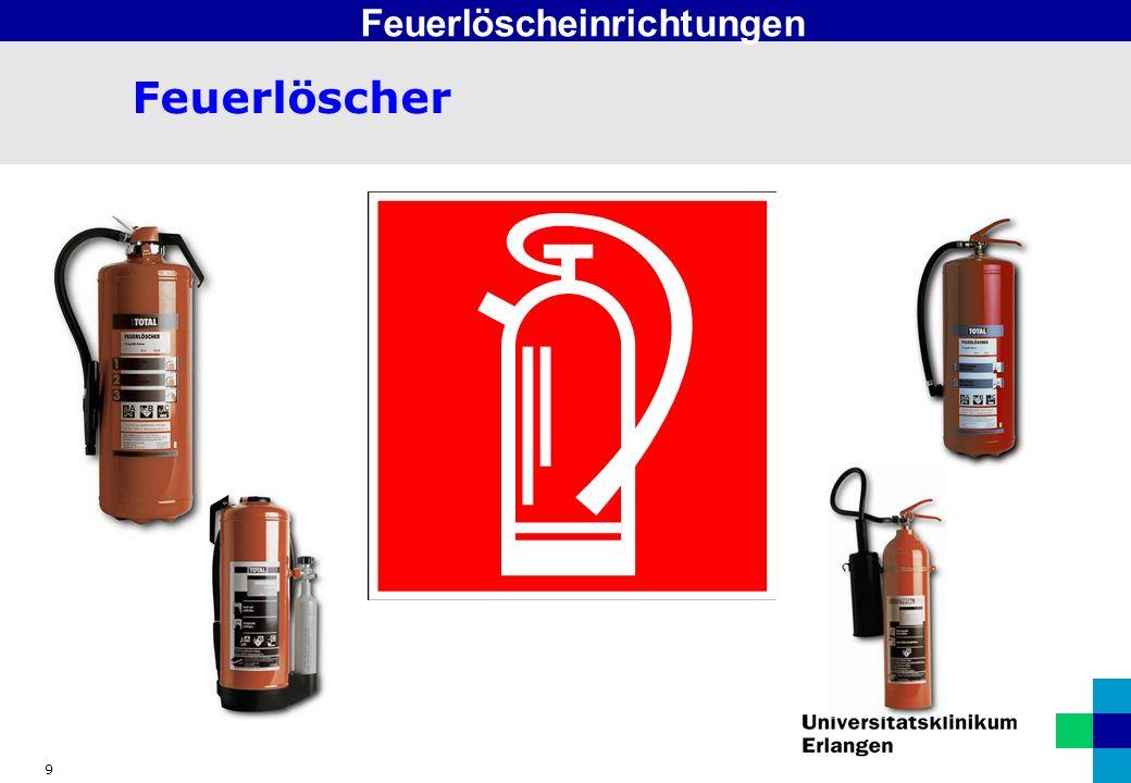 10 Aufladelöscher Feuerlöscheinrichtungen Bei Aufladelöschern erfolgt das scharfmachen oder aufladen erst unmittelbar vor dem Gebrauch.