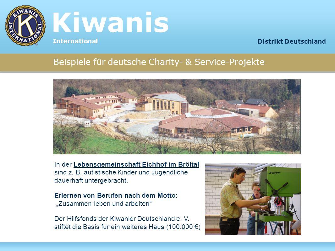 Beispiele für deutsche Charity- & Service-Projekte In der Lebensgemeinschaft Eichhof im Bröltal sind z. B. autistische Kinder und Jugendliche dauerhaf