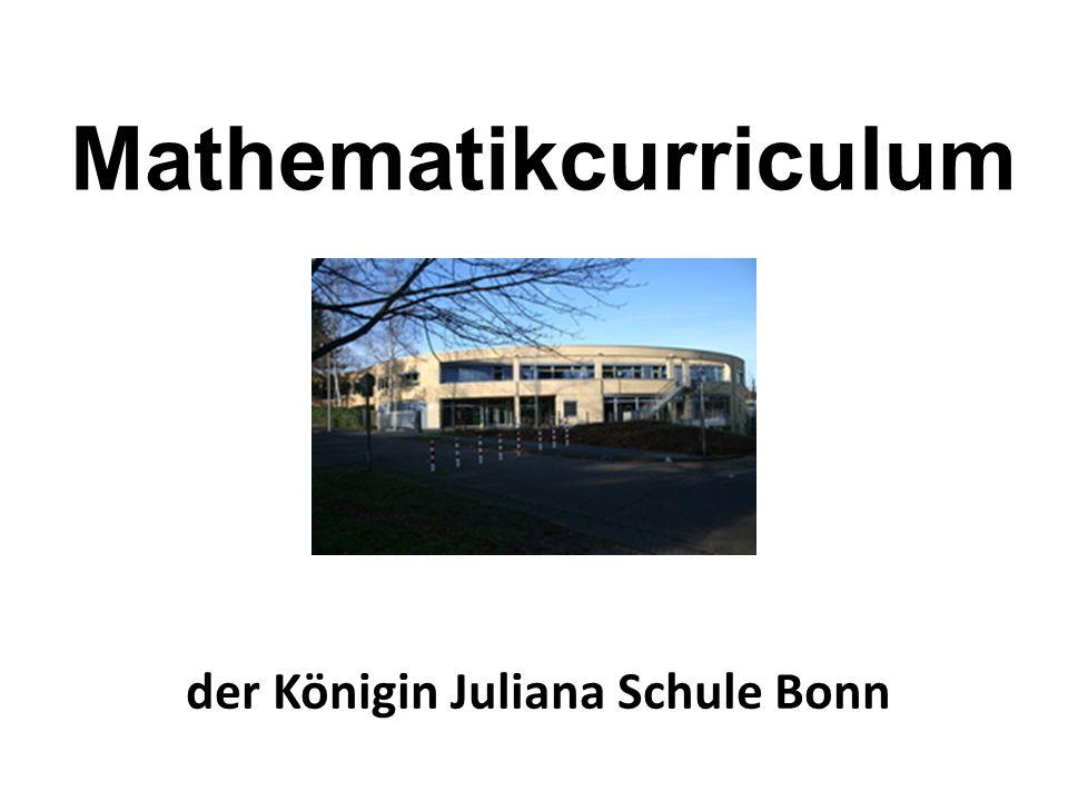 Mathematikcurriculum der Königin Juliana Schule Bonn