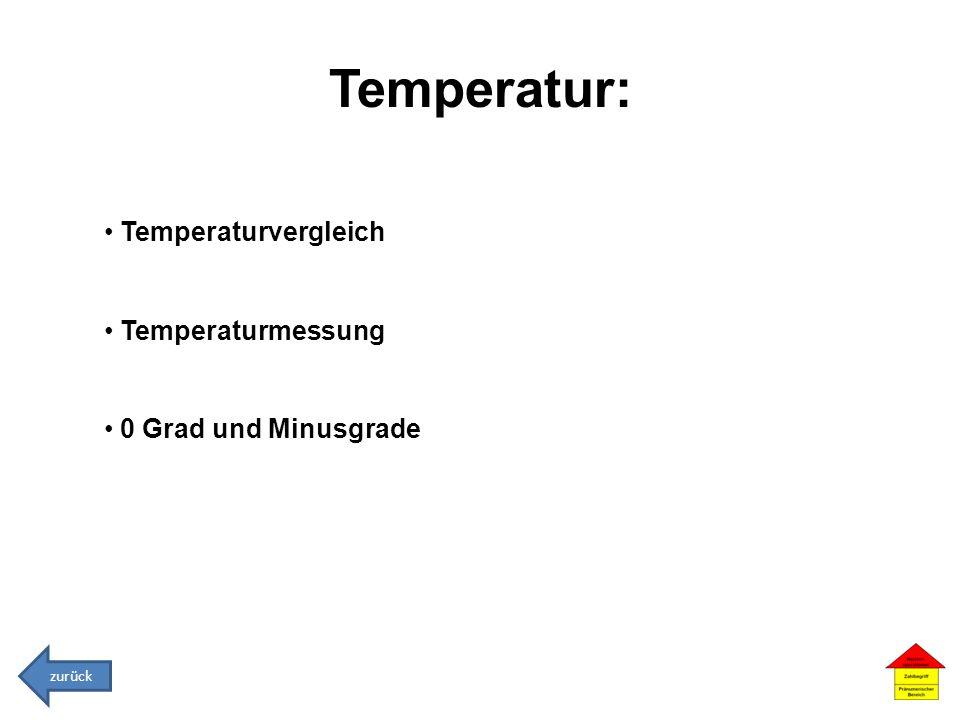 Temperatur: Temperaturvergleich Temperaturmessung 0 Grad und Minusgrade zurück