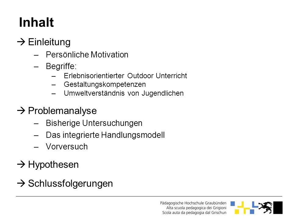 Motivationstypen ohne linearer Zusammenhang zwischen Motivation und Intention Quelle: Rost et al.