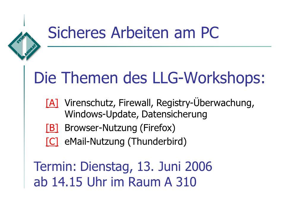 Die Themen des LLG-Workshops: Einführung in das Programm MS-PowerPoint Nutzung von Masterfolien Praktische Übung Einsatz im Unterricht Termin: Donners
