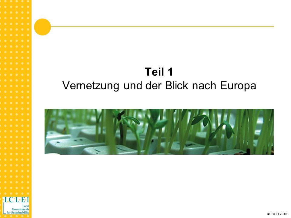 © ICLEI 2010 Procura + Kampagne Vernetzung – Die Procura + Kampagne unterstützt bekannt zu machen Procura + ist eine Initiative, die öffentliche Einrichtungen in Europa dabei unterstützt, nachhaltige Beschaffung umzusetzen und Ihre Erfolge bekannt zu machen.
