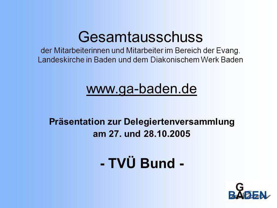 Gesamtausschuss der Mitarbeiterinnen und Mitarbeiter im Bereich der Evang. Landeskirche in Baden und dem Diakonischem Werk Baden www.ga-baden.de Präse