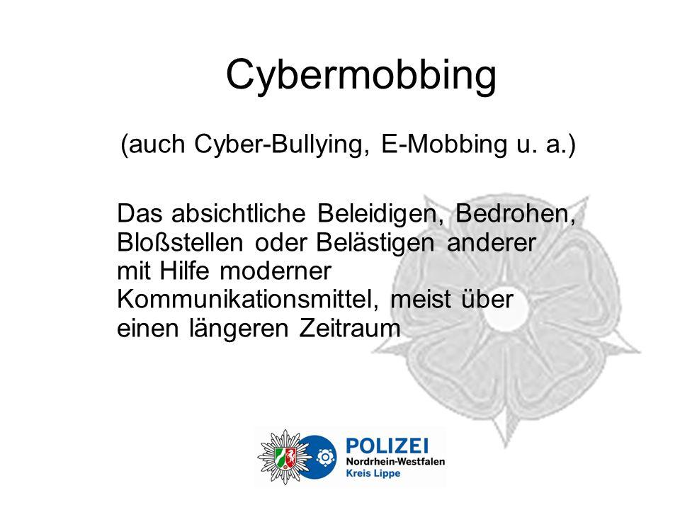 Cybermobbing (auch Cyber-Bullying, E-Mobbing u.