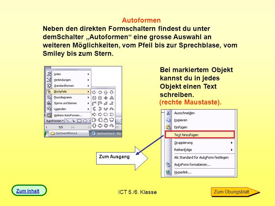 ICT 5./6.Klasse 5. Rahmenlinien Du kannst von jedem Objekt die Rahmenlinien verändern.