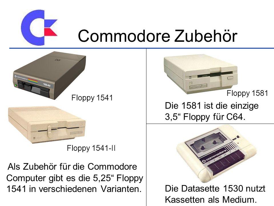 Als Zubehör für die Commodore Computer gibt es die 5,25 Floppy 1541 in verschiedenen Varianten.
