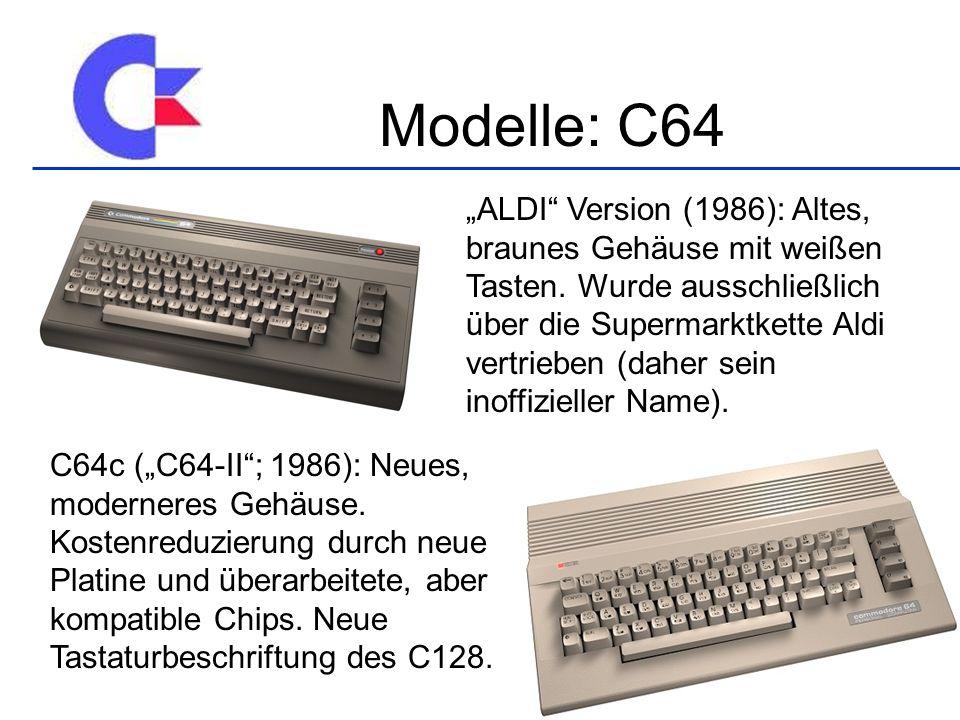 ALDI Version (1986): Altes, braunes Gehäuse mit weißen Tasten.