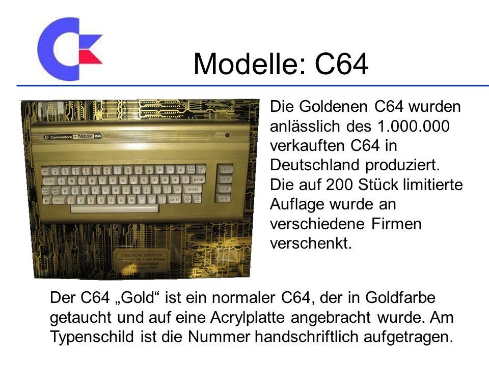Die Goldenen C64 wurden anlässlich des 1.000.000 verkauften C64 in Deutschland produziert.