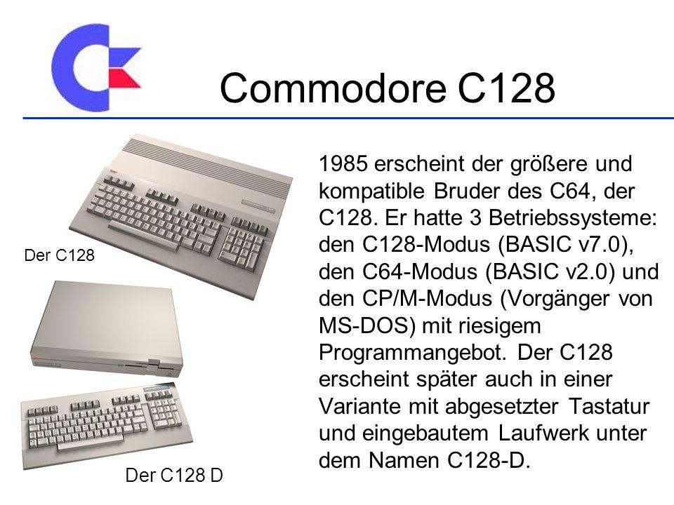 1985 erscheint der größere und kompatible Bruder des C64, der C128.