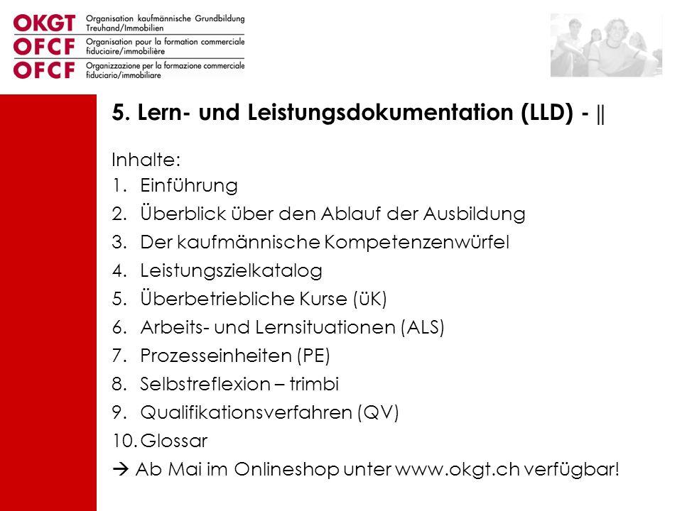 Inhalte: 1.Einführung 2.Überblick über den Ablauf der Ausbildung 3.Der kaufmännische Kompetenzenwürfel 4.Leistungszielkatalog 5.Überbetriebliche Kurse